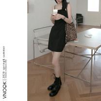 Dress Summer 2020 S,M,L Short skirt singleton  Sleeveless commute High waist lattice Socket camisole vnook 31% (inclusive) - 50% (inclusive) other