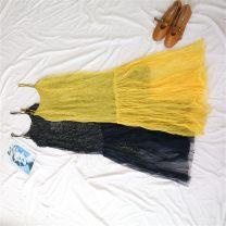 Dress Summer of 2019 Huang 39807-1, Bao Lan 39807-2 Average size