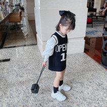 Sweater / sweater 80cm,90cm,100cm,110cm,120cm,130cm,140cm Acrylic blend female Black vest with white shirt Other / other leisure time There are models in the real shooting Socket routine Crew neck nothing Ordinary wool other Cotton 95% other 5% Class B Chinese Mainland