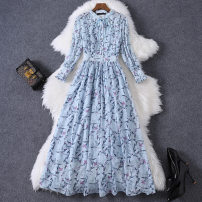 Dress Autumn 2020 sky blue S,M,L,XL