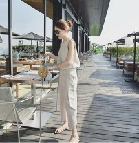 Casual pants Black, apricot S,M,L,XL Summer of 2018 Jumpsuit commute 18-24 years old Other / other other Korean version