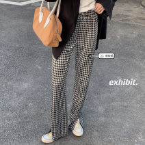 Casual pants Picture color Average size Spring 2021 trousers Straight pants High waist commute routine 18-24 years old 96% and above Korean version