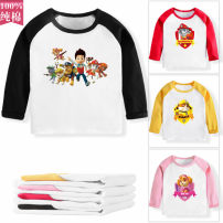 T-shirt Other / other 80cm,90cm,100cm,110cm,120cm,130cm neutral spring and autumn Long sleeves Crew neck leisure time No model nothing Pure cotton (100% cotton content) Cartoon animation Cotton 100% AAA003 other Sweat absorption Chinese Mainland Guangdong Province Huizhou City