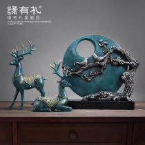 Ornaments resin animal Nordic style Tabletop ornaments a living room Good luck and courtesy Solicit wealth Elk Semi manual