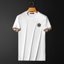 T-shirt Youth fashion White, black routine M,L,XL,2XL,3XL,4XL Others Short sleeve Crew neck Self cultivation daily summer QT3001AFD810T teenagers routine Youthful vigor