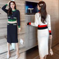 Fashion suit Autumn 2020 S,M,L,XL Apricot, blue 31% (inclusive) - 50% (inclusive) cotton