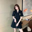 Women's large Spring 2021, summer 2021 Black, gray, khaki, black long sleeves, gray long sleeves M (recommended 85-100 kg), l (recommended 100-120 kg), XL (recommended 120-140 kg), 2XL (recommended 140-160 kg), 3XL (recommended 160-180 kg), 4XL (recommended 180-200 kg) Dress singleton  commute easy