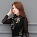 Lace / Chiffon Winter of 2019 Red thin, gold thin, red plush thickened, gold Plush thickened, single skirt M,L,XL,2XL,3XL,4XL,5XL,6XL,7XL Long sleeves commute Socket singleton  Self cultivation have cash less than that is registered in the accounts High collar Solid color routine Korean version