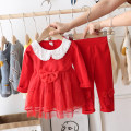 suit Other / other 66cm,73cm,80cm,85cm,90cm,95cm,100cm female spring and autumn princess Long sleeve + pants 2 pieces routine There are models in the real shooting Socket nothing other cotton children Expression of love Class B Cotton 65% other 35%