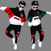 suit Awesome coolie 110cm 120cm 130cm 140cm 150cm 160cm 170cm 180cm male spring and autumn leisure time Long sleeve + pants 2 pieces routine There are models in the real shooting Socket nothing Cartoon animation cotton children Expression of love glddk401 Class B Autumn of 2019 Chinese Mainland
