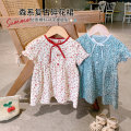 Dress Temperament red, sky blue, temperament red is expected to warehouse, sky blue is expected to warehouse female luson 66, 73, 80, 90, 100 Other 100% summer Countryside Short sleeve Broken flowers other other FTX111027 other