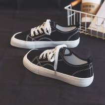 canvas shoe Belle Low Gang 35,36,37,38,39,40 Summer 2021 Frenulum Korean version rubber Solid color Youth (18-40 years old) Cross bandage Vulcanization process