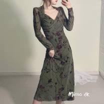 Dress Autumn of 2019 Dark Jade Green S,M,L
