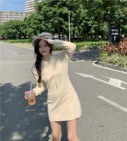 Dress Winter 2020 Black, cream apricot, coffee Average size Short skirt singleton  Long sleeves Sweet Hood High waist Socket routine Type A More than 95% brocade cotton