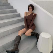 Dress Autumn 2020 Grey, camel, black Average size