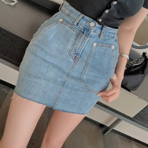skirt Summer 2020 S,M,L blue Middle-skirt 18-24 years old Other / other