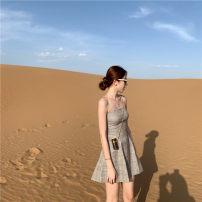 Dress Summer of 2019 khaki S, M singleton  Sleeveless Others Other / other