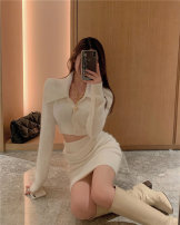 Fashion suit Spring 2021 Average size White top, white skirt