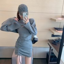 Dress Winter 2020 Knitted top, suspender skirt S. M, average size Two piece set