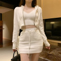Fashion suit Autumn 2020 S, M Casual sweater, casual skirt 18-25 years old Other / other 96% and above cotton