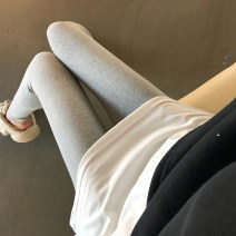 Leggings Winter of 2019 Gray, black Average size Plush Capris / Capris 18-24 years old Other / other pure cotton 81% (inclusive) - 90% (inclusive)
