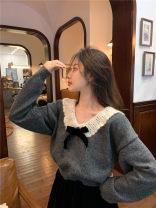 Fashion suit Winter 2020 Average size Grey sweater, black skirt 523