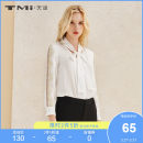 shirt white S M L XL Summer of 2018 polyester fiber 96% and above Long sleeves Original design Regular V-neck Single row multi button routine other 25-29 years old Self cultivation TMi Polyester 100% Pure e-commerce (online only)