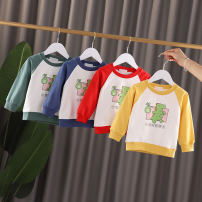 T-shirt Red green blue yellow Angel Pilu 80cm 90cm 100cm 110cm 120cm neutral spring and autumn Crew neck nothing cotton Cotton 95% polyurethane elastic fiber (spandex) 5% FH266 Class A Sweat absorption Winter of 2019 6 months 9 months 18 months 2 years 3 years 4 years 5 years 6 years Chinese Mainland