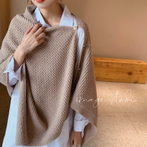 Scarf / silk scarf / Shawl Wool Camel, off white, grey, dark coffee, greyish green Spring and autumn, winter female Shawl multi-function Korean version rectangle Students, youth, youth, middle age Solid color other 60cm 140cm More than 96% Yingman ADA66