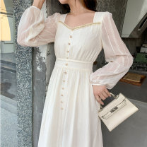 Dress Autumn 2020 Off white S M L XL Middle-skirt singleton  18-24 years old Amy it girl D4163 More than 95% other Other 100% Pure e-commerce (online only)