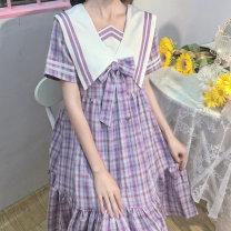 Dress / evening wear Party date Average size lattice Sweet High waist Summer 2020 D584 Amy it girl Other 100%