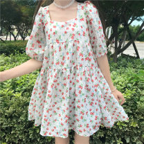 Dress Summer 2020 Strawberry Floral Dress Average size Middle-skirt 18-24 years old Amy it girl D560 More than 95% other Other 100% Pure e-commerce (online only)