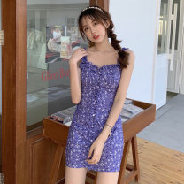 Lace / Chiffon Spring 2021 Purple floret Average size Short sleeve Regular Amy it girl W657 Other 100% Pure e-commerce (online only)