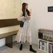 Dress Spring 2021 White black Average size Mid length dress Long sleeves 18-24 years old Amy it girl D7513 More than 95% other Other 100% Pure e-commerce (online only)
