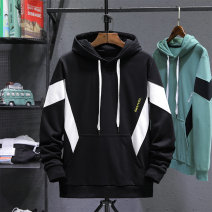 Sweater Youth fashion Others stripe Socket routine Hood spring easy go to work Large size tide routine Cotton polyester Cotton 85% polyester 15% cotton printing washing 80% (inclusive) - 89% (inclusive) Side seam pocket Youth fashion Socket