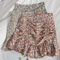 skirt Spring 2021 S,M,L Red, blue, orange Short skirt Versatile High waist Ruffle Skirt Broken flowers Type A 18-24 years old 81% (inclusive) - 90% (inclusive) other Lotus leaf edge