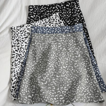 skirt Spring 2021 S,M,L,XL Green, black, white, blue Short skirt Versatile High waist A-line skirt Leopard Print Type A 18-24 years old 71% (inclusive) - 80% (inclusive) other