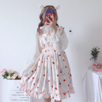 Fashion suit Summer of 2019 Average size Perspective Chiffon sun shirt, light pink dress, black dress, sun shirt + light pink dress, sun shirt + black dress Under 17 Other / other 96% and above polyester fiber