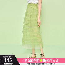 skirt Summer 2020 S M L XL Mid length dress street Natural waist Cake skirt other Type H 18-24 years old More than 95% Seenfaan / in full bloom polyester fiber Polyester 100% Pure e-commerce (online only) Europe and America