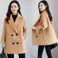 woolen coat Spring 2021 Xs, s, m, l, XL, fashionable top goods, fashionable and elegant wool overcoat Khaki, orange, off white, green, caramel, pink other 95% and above Long sleeves commute double-breasted routine tailored collar Solid color Self cultivation Korean version XC-1810-MSLN-J