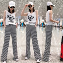 Casual pants S,M,L,XL Summer 2021 trousers Straight pants High waist Versatile routine 25-29 years old 81% (inclusive) - 90% (inclusive) cotton cotton