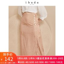 skirt Summer 2020 160/66A/M,155/62A/S,170/74A/XL,175/78A/XXL,165/70A/L Coffee black Mid length dress commute High waist A-line skirt Type A 25-29 years old E021003Q00 More than 95% other ibudu polyester fiber printing Simplicity