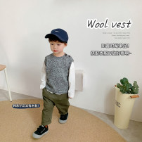 Vest male Flower ash 1y (80cm), 2Y (90cm) models try on, 3Y (100cm), 4Y (110cm), 5Y (120cm), 6y (130cm), 7Y (140cm) YUNERMA spring and autumn routine There are models in the real shooting Socket leisure time blending other Polyacrylonitrile 80% wool 15% others 5%