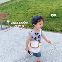 Vest sling grey Sleeveless 1y (80cm), 2Y (90cm) models try on, 3Y (100cm), 4Y (110cm), 5Y (120cm), 6y (130cm), 7Y (140cm) summer YUNERMA male There are models in the real shooting leisure time other Crew neck nothing Pure cotton (95% and above) Cotton 95% other 5%