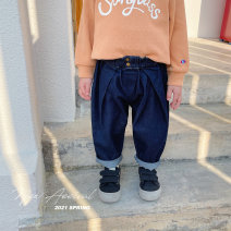 trousers YUNERMA male 1y (80cm), 2Y (90cm) models try on, 3Y (100cm), 4Y (110cm), 5Y (120cm), 6y (130cm), 7Y (140cm) Dark blue spring and autumn trousers Simplicity There are models in the real shooting Casual pants Leather belt middle-waisted other Don't open the crotch Cotton 90% polyester 10%