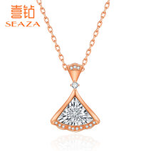 Neckwear 3 points Domestic identification Less than 10 points Pendants circular No grading below 20 I-J / light white VG / very good Shop warranty Us diamond Jewelry testing center of China University of Geosciences Cal, CMA and CNAs / CNAL 9 sub drilling (3 + 6) White 18K Gold Group inlay J14972R