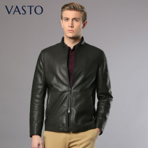 leather clothing Vasto / Waldo Business gentleman black 46 48 50 52 54 56 routine Leather clothes top layer leather Fall 2017 Same model in shopping mall (sold online and offline)
