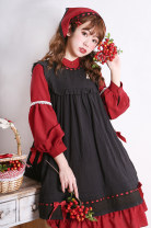 Dress Autumn of 2018 White, black Average size Middle-skirt singleton  Sleeveless Sweet Crew neck Loose waist Solid color other Big swing other Others Type X Lace cotton Lolita