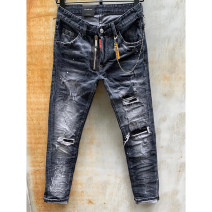 Jeans Youth fashion Piplan As shown in the figure routine No bullet Denim  010-1 trousers Other leisure Four seasons youth Medium low back Slim feet tide 2020 Little straight foot Button Washing, bleaching and dyeing Three dimensional tailoring