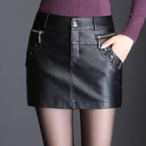 Casual pants black M waist 2'0 / 27, l waist 2'1 / 28, XL waist 2'2 / 29, 2XL waist 2'3 / 30, 3XL waist 2'4 / 31, 4XL waist 2'5 / 32 Autumn 2020 shorts Straight pants High waist commute routine 35-39 years old 81% (inclusive) - 90% (inclusive) PU leather belt polyester fiber